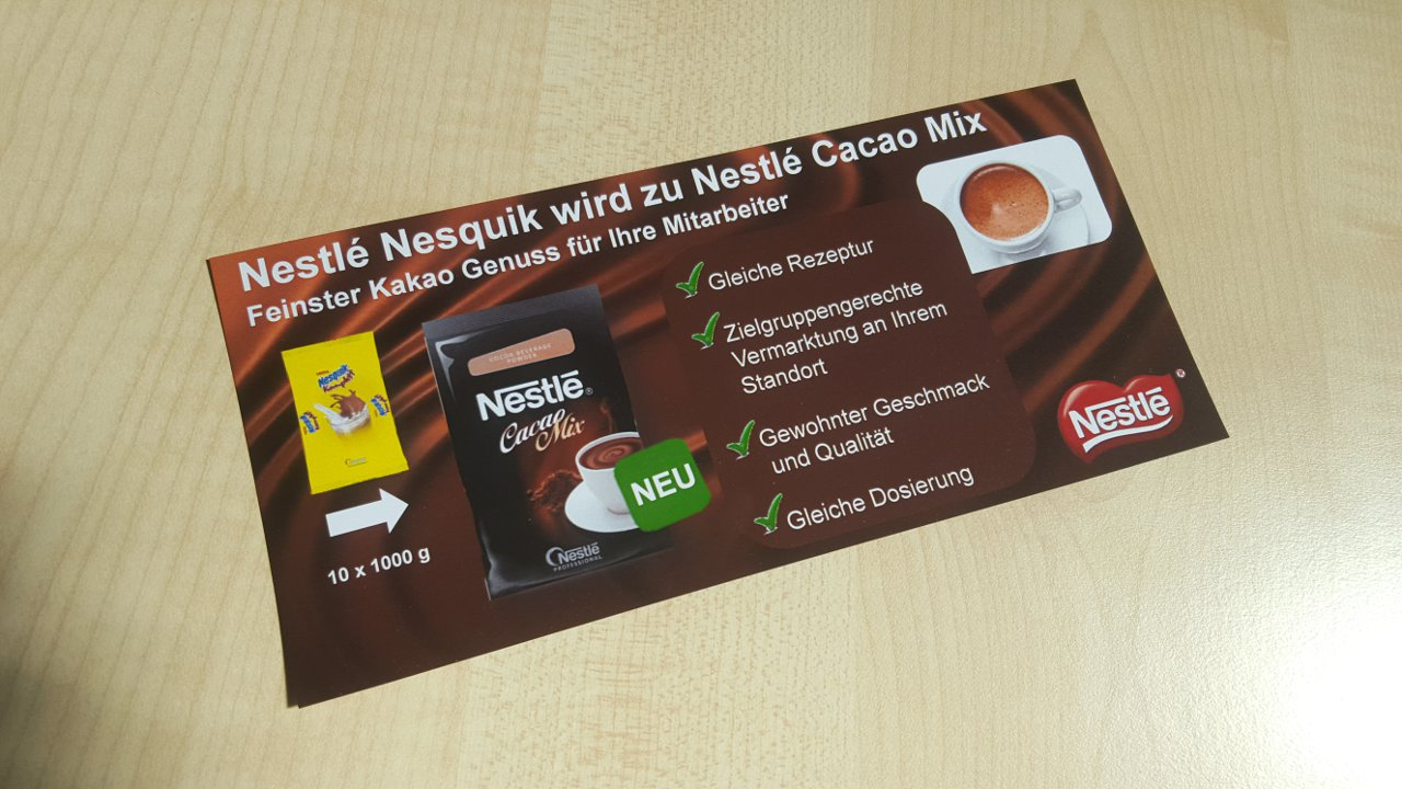 Nestlé Cacao Mix Flyer