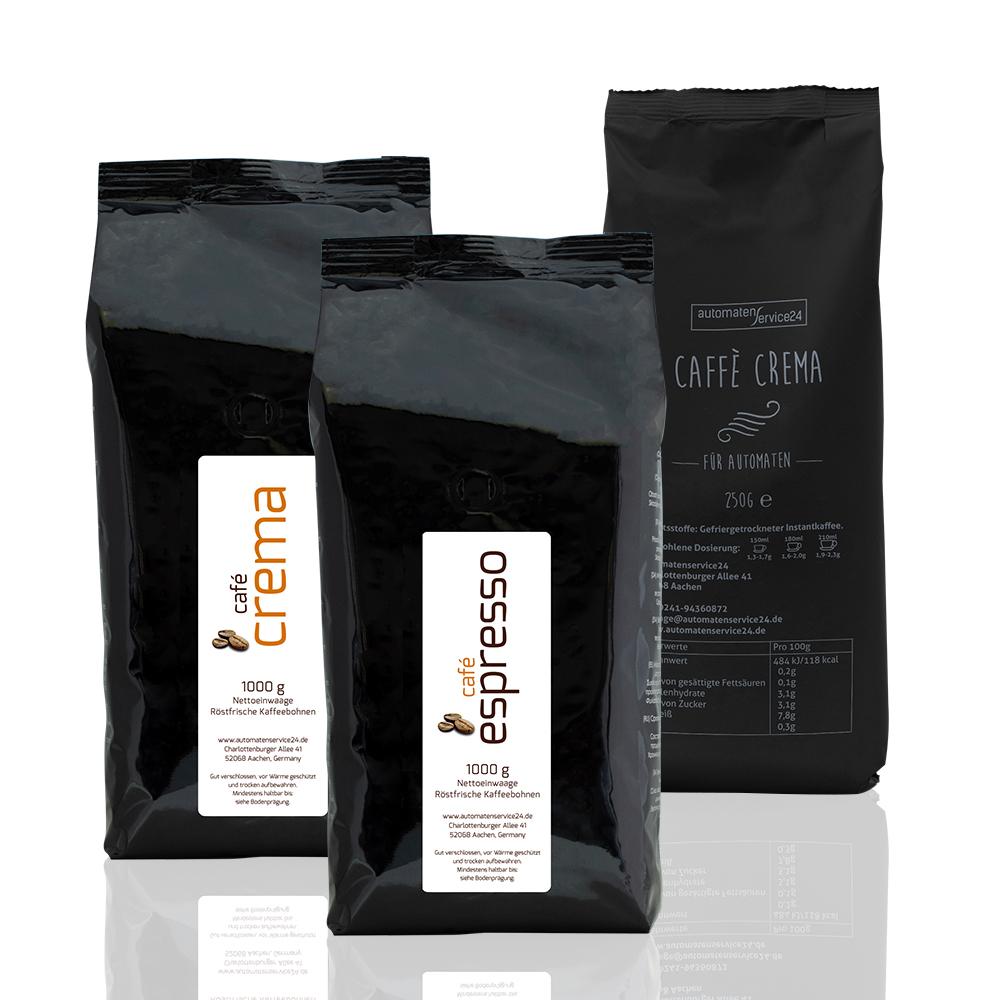Ein grundlegender Unterschied bei Kaffeevollautomaten ist die Verwendung von Kaffeebohnen oder Instantkaffee.